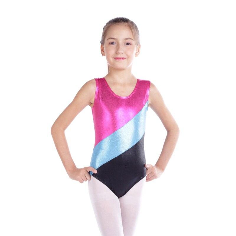 747975f61be7 Gymnastics clothes girls high-quality sleeveless radium color ...