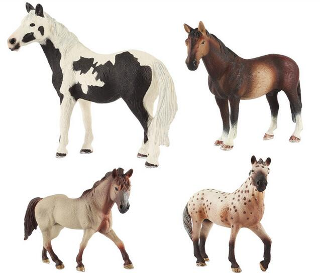 4 pcs /set Emulational Realistic small animals horse Plastic Figures toy funny Toys for Boys and Girls Educational toy gift 7 colors lighting funny toy abs plastic edc hand spinner for autism and adhd rotation long time stress relief toys