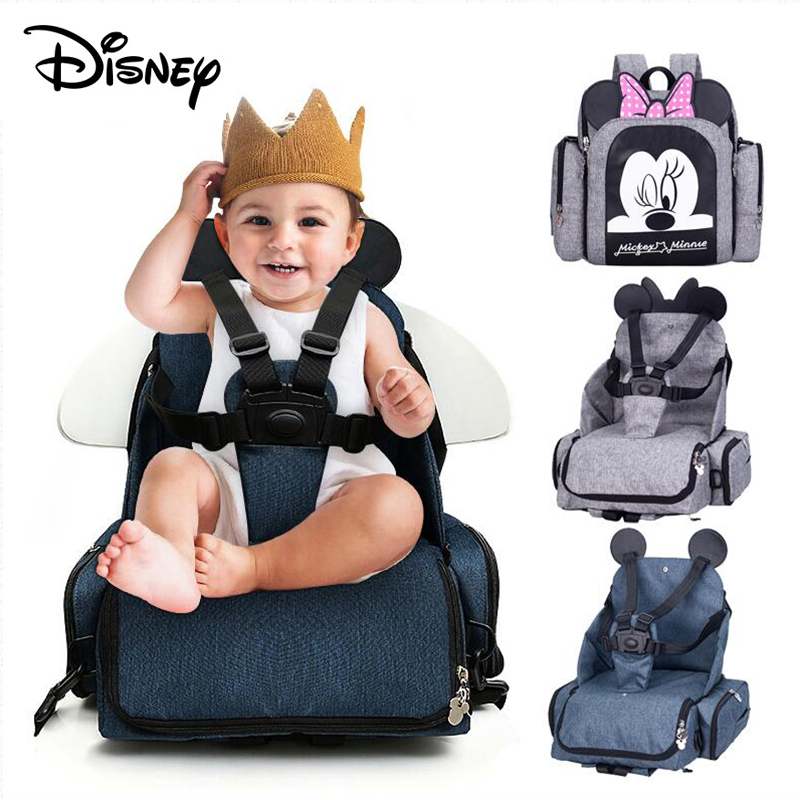 Disney New Waterproof Mother Nappy Backpack Travel Mummy Care Bag Dining Chair Bag Multifunctional Diaper Bags Of Woman Packbag