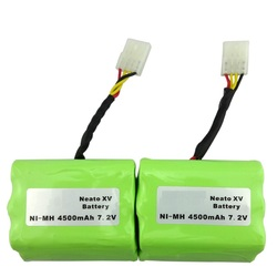 2 pcs 7.2v 4500mAh battery pack for Neato XV-21 XV-11 XV-14 XV-15 robot vacuum cleaner parts neato xv battery