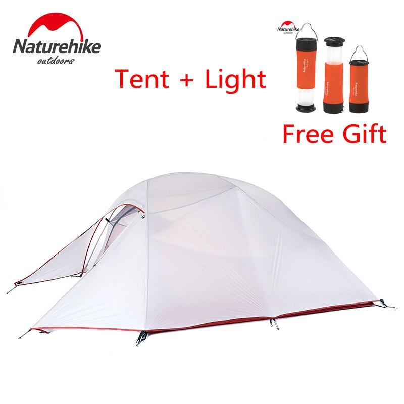 Nature randonnée mise à niveau Cloud Up série ultra-léger 1-3 personnes Camping en plein air tente Double couches Gazebo hiver pêche tentes de voyage