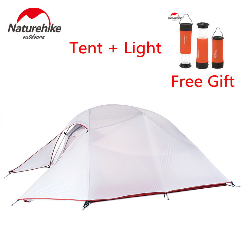 Naturehike Upgraded Cloud Up Series Ultralight 1-3 Persons Outdoor Camping Tent Double Layers Gazebo Winter Fishing Travel Tents naturehike cloud peak tent ultralight two man camping hiking outdoor outdoor camping tents 2 5kg tents for winter fishing