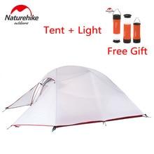 Naturehike Upgraded Cloud Up Series Ultralight 1-3 человека на открытом воздухе кемпинговая палатка двухслойная беседка зимняя рыбалка туристические палатки