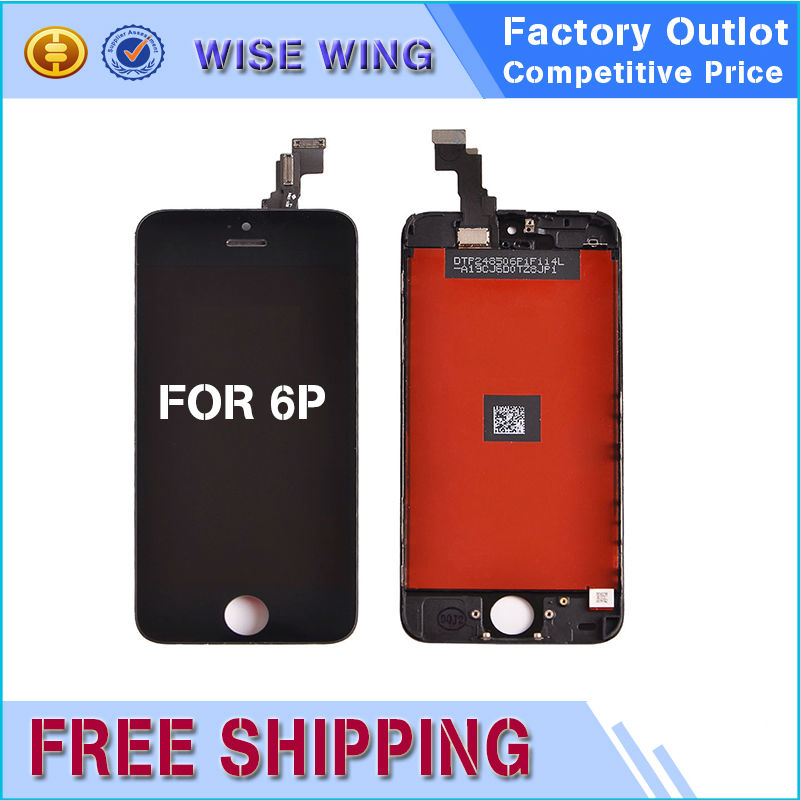 10 PCS Alibaba Aliexpress factory LCD Screen For iPhone 6 6s Plus LCD Touch Display Glass Digitizer Assembly+Tempered Glass AAA