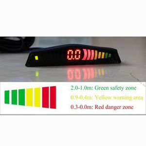 Image 5 - Koorinwoo Originele Auto LED Screen Parkeer Sensor Multicolor Set 4 Probes Auto Reverse Radar Parktronic blind Alert Indicator