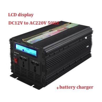 цена на LCD display modified sine wave UPS inverter 1500W 3000W(peak)12v to 220v Inverter + Charger & UPS,Quiet and Fast Charge inverter