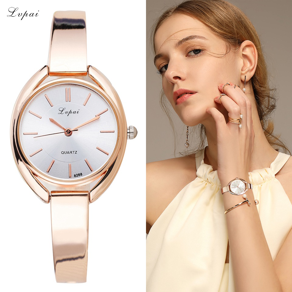 Lvpai Brand Luxury Women Armband Klockor Mode Kvinnor Klänning Armbandsur Ladies Quartz Sport Rose Gold Watch Dropshiping LP025