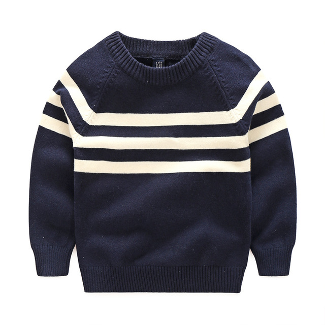 c8ef716ce Baby Boys Sweater New Autumn Winter Kids Long Sleeve Striped Cotton ...