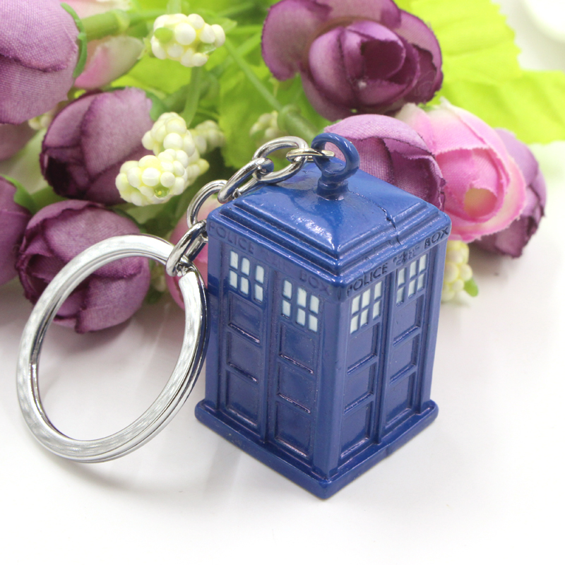 Top Quality Dr Doctor Who Dalek Tardis Police Box Silver Pendant Key