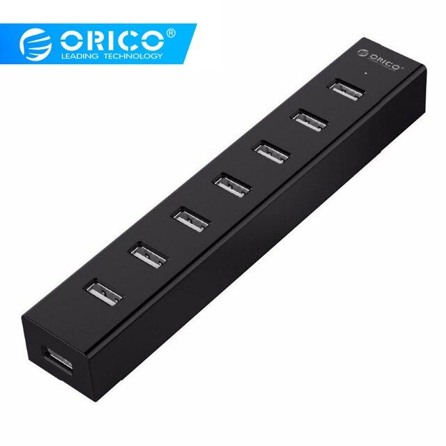 ORICO H7013-U2 7 Cổng USB 2.0 cho MAC Máy Tính Xách Tay Một Cách Hoàn Hảo với 30 CM Cáp Dữ Liệu-Đen/Trắng /Xám/Xanh Dương