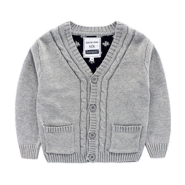 9a4c45670 Baby Boys Sweater Cardigan New Autumn Kids Bobo Choses Dot Knitted ...