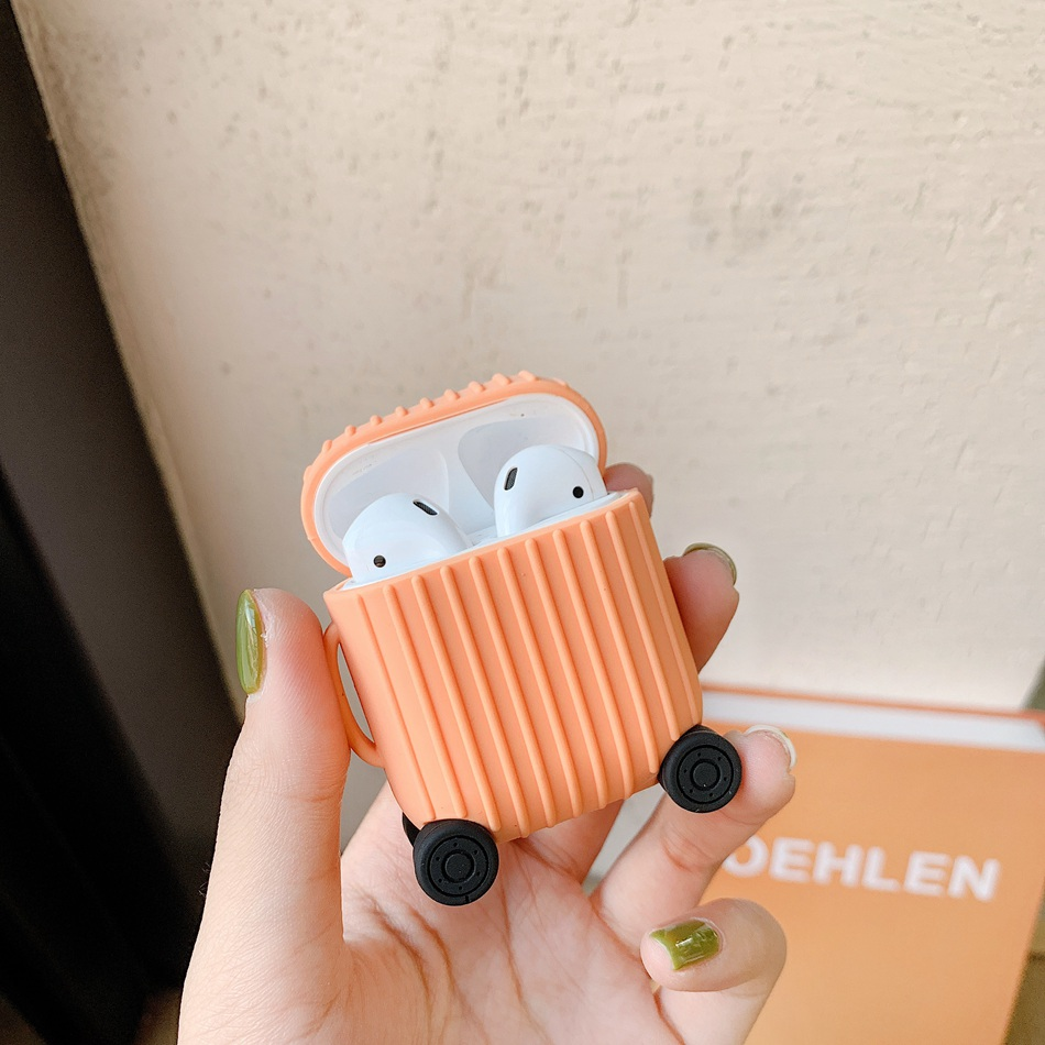 Image 4 - For AirPods Case Fashion Cute Suitcase Trunk Case For Apple Airpods 2 i10 i11 Luggage Bluetooth Wireless Earphone Protect Cover-in Earphone Accessories from Consumer Electronics