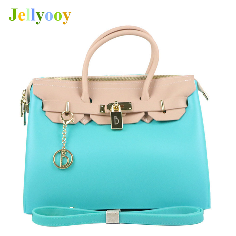 Hit Color Jelly Platinum Bag for Women Luxury Brand Locks Shoulder Bags Famous Designer Female Quality Tote Bags Channels gg Bag thailand tide brand platinum all match female bag stereo flower pearl diamond shoulder bags platinum small bag