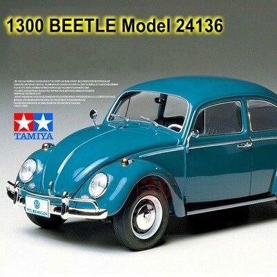 1:24 escala modelo de carro 1300 beetle modelo 1966 tamiya 24136, kits de construção de carro