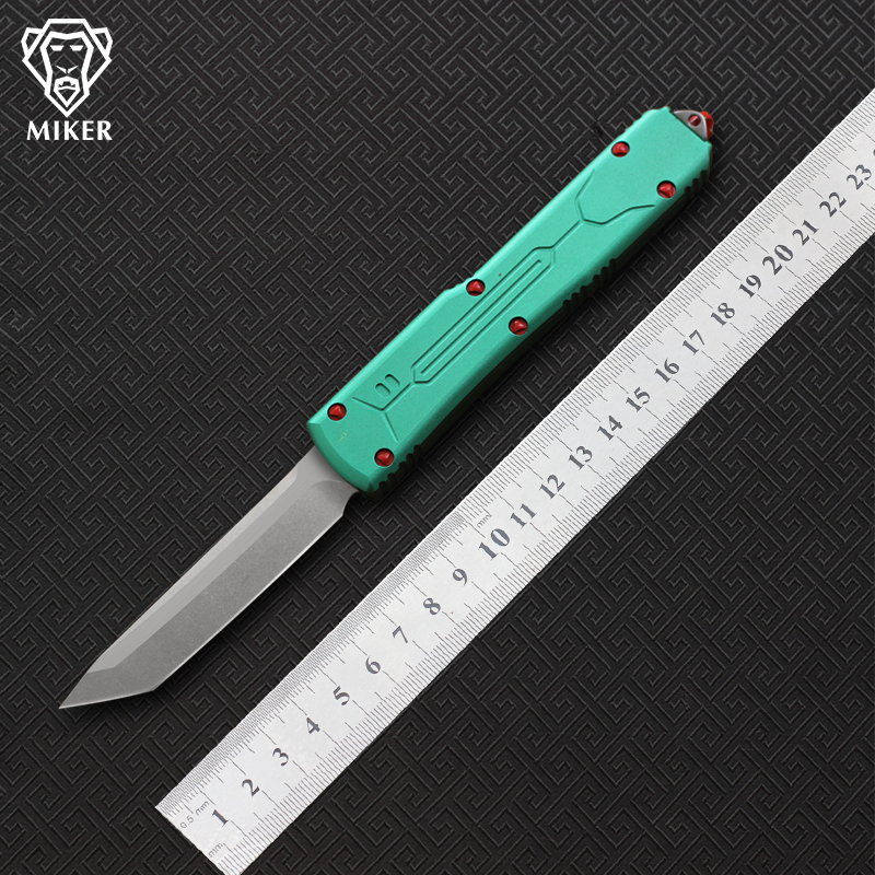 MIKER fixed blade knife VG 10 blade aluminum handle camping survival outdoor EDC hunt Tactical tool
