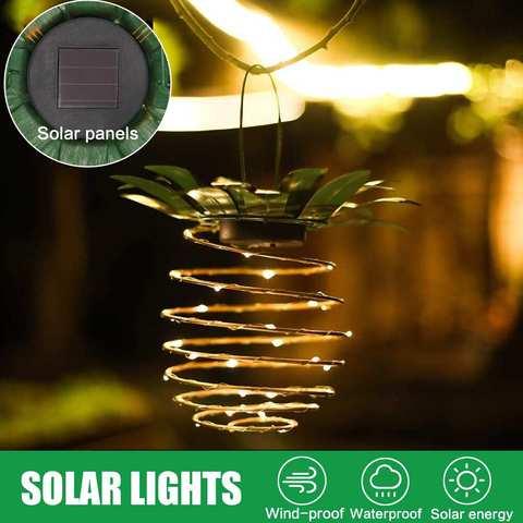 abacaxi do sotao luzes solares ao ar livre luzes da noite a prova d agua