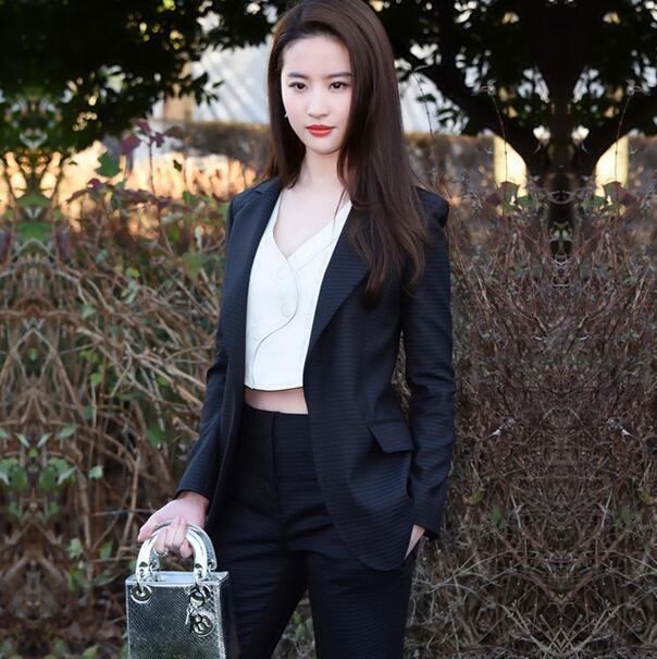 O novo desgaste do verão do mesmo parágrafo com pequenos ternos terno moda feminina temperamento terno two-piece suit-do809