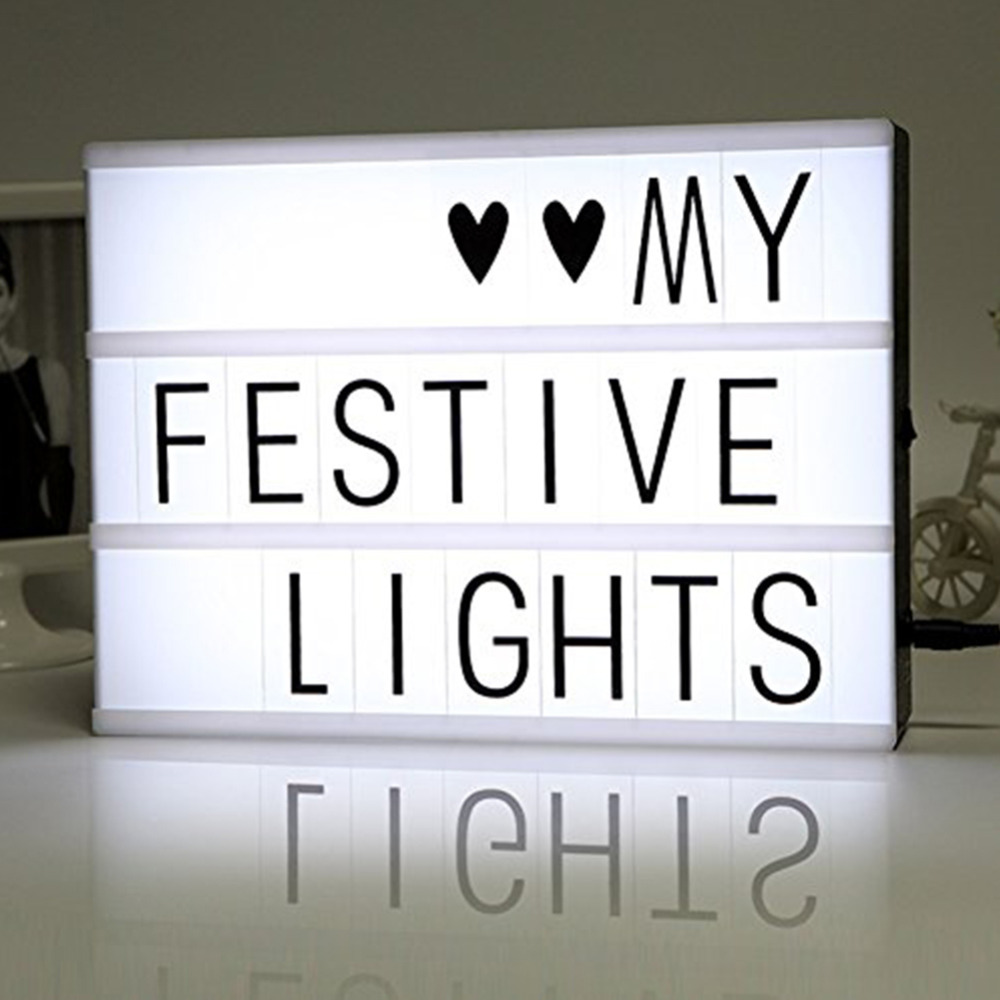 DIY Free Cinematic Light Box With Letters And LED Light A4 ...