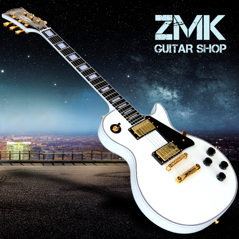 the new type custom lp electric guitar ebony fingerboard white electric guitar free shipping the. Black Bedroom Furniture Sets. Home Design Ideas