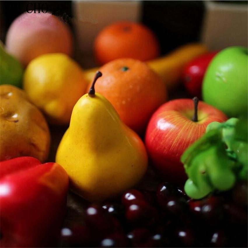unidslote simulacin artificial verduras verdes calabazas jardn familia decoracin de la