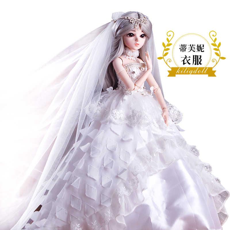 BJD 60 см куклы игрушки высшего качества китайская Кукла 18 шарнир BJD шарнир Кукла Мода девушка подарок Тиффани