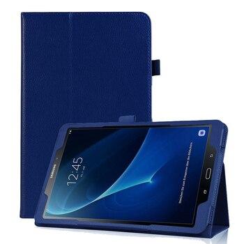 7b0d8fef47b Soporte magnético PU Funda de cuero para Samsung Galaxy Tab A6 10,1 2016  T585