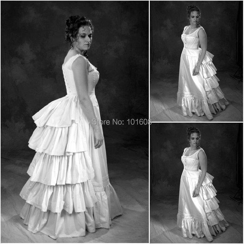 Вицториан Цорсет Готхиц / Цивил Вар Хаљина за хаљине са јужним белим хаљинама Хаљине за Халловеен хаљине УС 4-16 Р-323