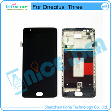 Original For Oneplus 3 A3000 A3003 LCD Display With Frame Touch Screen Panel For Oneplus Three LCD Digitizer Assembly Parts