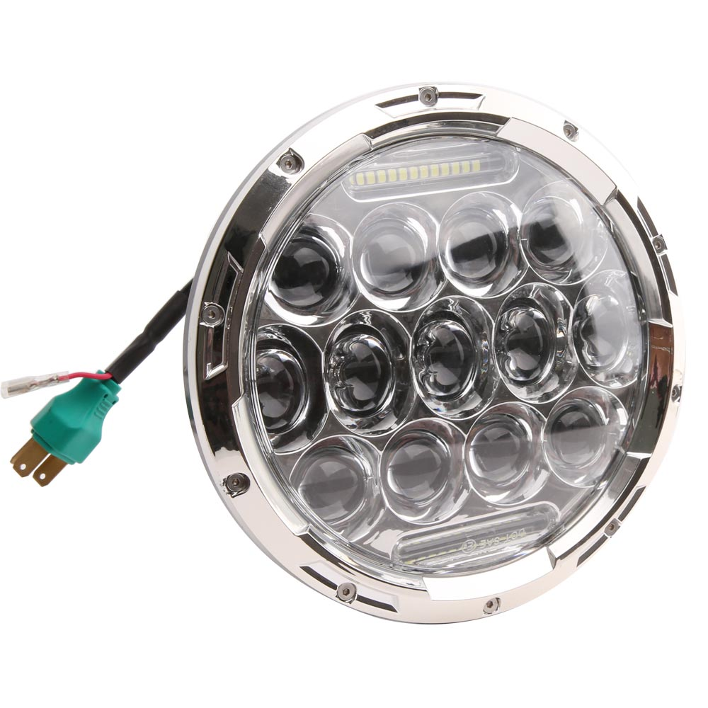 Universal 7 Inch 75W Round Daymaker LED Projector Headlight Bulb for Harley Davidson Motorcycle and LED Headlamp