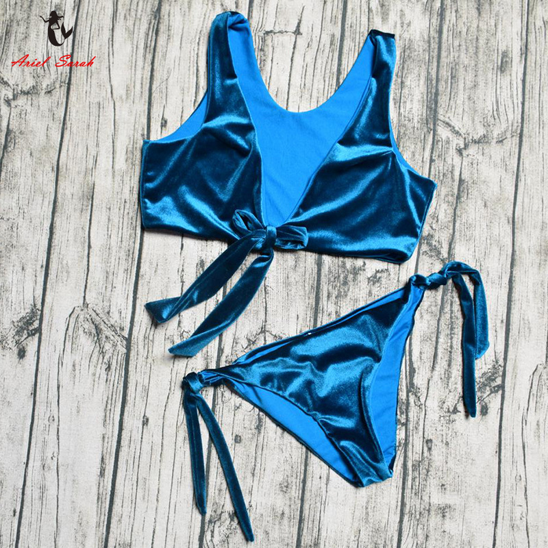Ariel 2018 Bikinis traje De baño sólido para mujer traje De baño para mujer