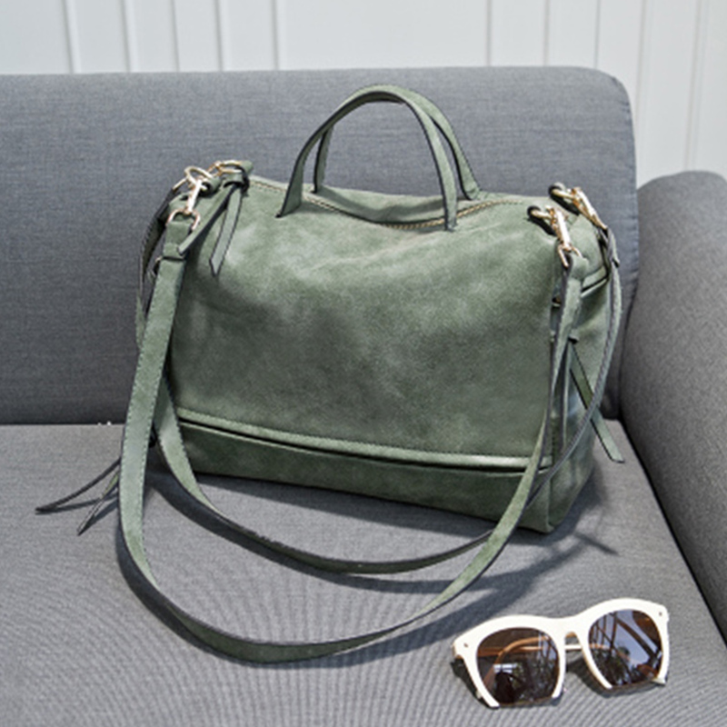 Hot Selling! Fashion Women Handbag Nubuck Leather Shoulder bag Female Messenger bags Vintage Tote Motorcycle Crossbody bag 2018 2016 new arrive women bag women shoulder bag nubuck leather vintage messenger bag motorcycle crossbody bags f40 657