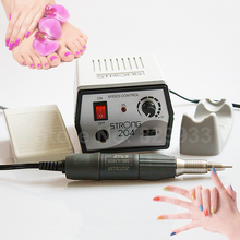 Free Shipping 35K RPM Electric Manicure Pedicure Nail File Drill Micromotor Machine Strong 204 + SHIYANG SDE-L102S Handpiece car