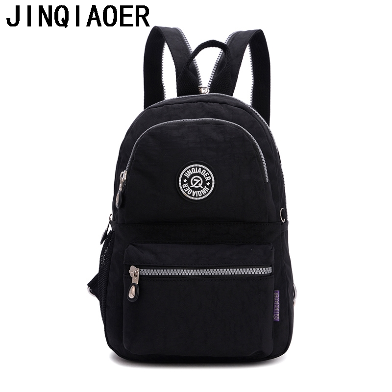 Women Nylon Backpack For Teenagers School Bag Female Laptop Mochila Escolar Feminina Shoulder Backpack For Girls fashion women leather backpack rucksack travel school bag shoulder bags satchel girls mochila feminina school bags for teenagers