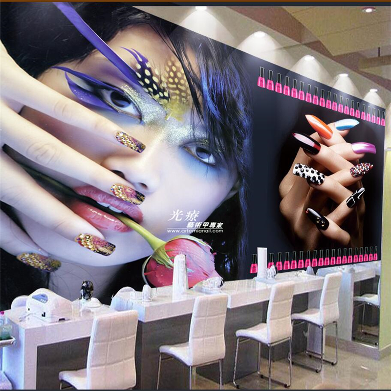 Beibehang papel de parede 3d custom wallpaper cool beauty for Abstract salon of the arts