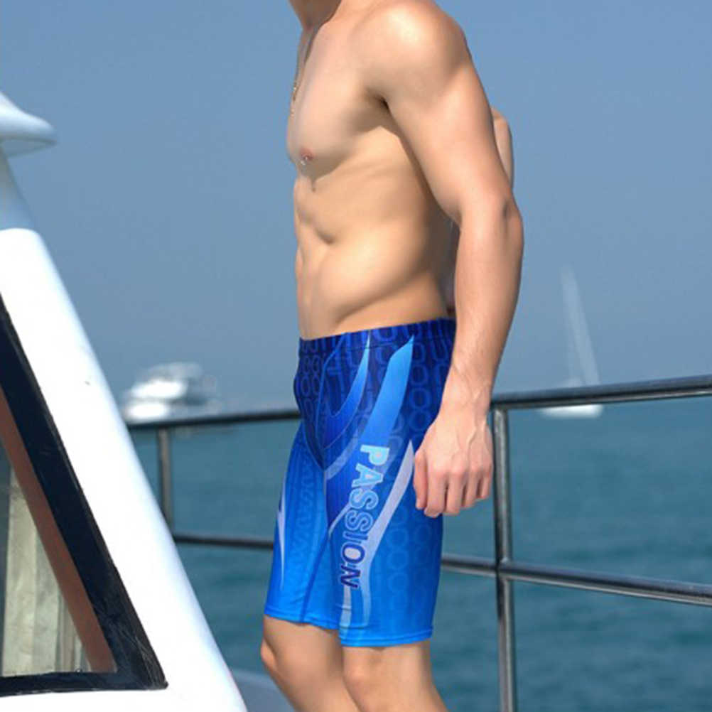 8708e4de1f636 ... Best Price Mens Endurance Competition Jammer Swimsuit Quick Dry Splice  Square Leg Swimwear ...