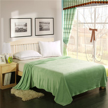 WLIARLEO Soild Blanket Thicker Soft Blankets Throws For Sofa/Bed/ Travel  Green Anti