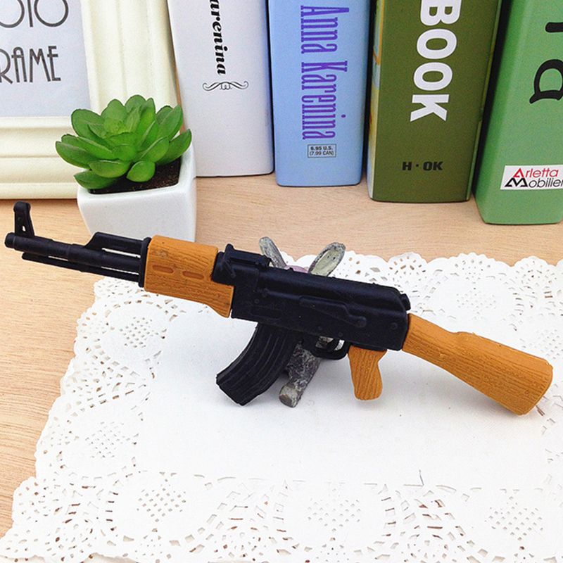 1 Pcs Creative Weapons Eraser Simulation Rifle Shape Rubber Eraser Stationery School Supplies Papelaria Kids Gifts
