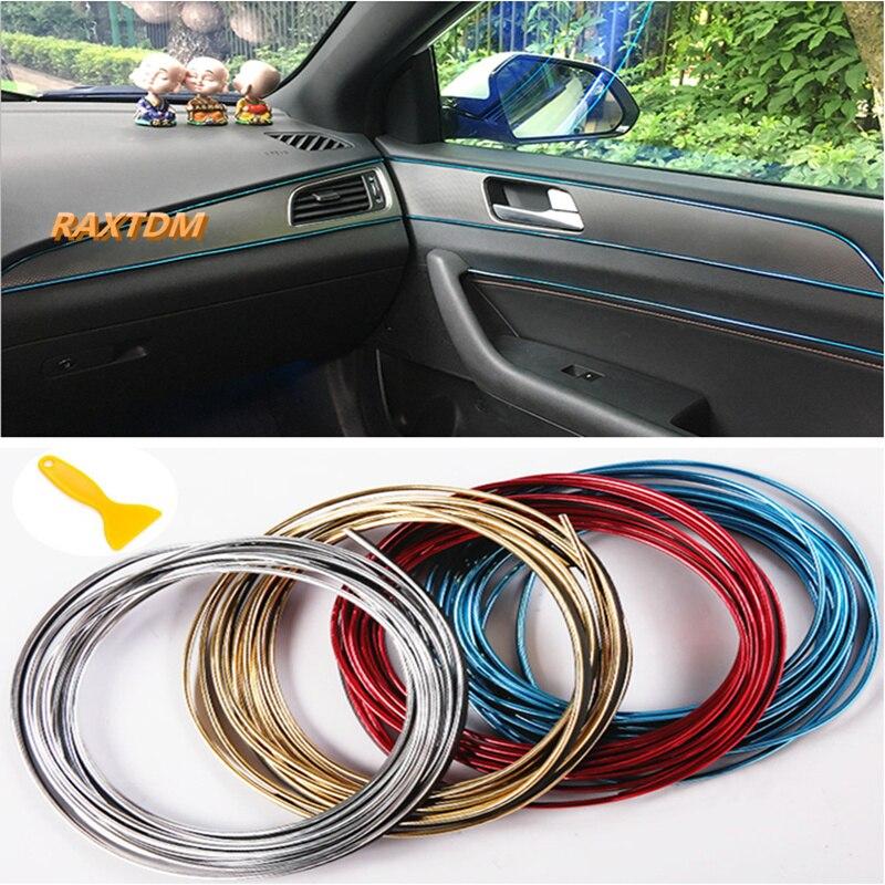 5m Car Interior Exterior Trim Decorative Strip Line For Toyota Camry Highlander RAV4 Crown Reiz Corolla Vios Yaris L