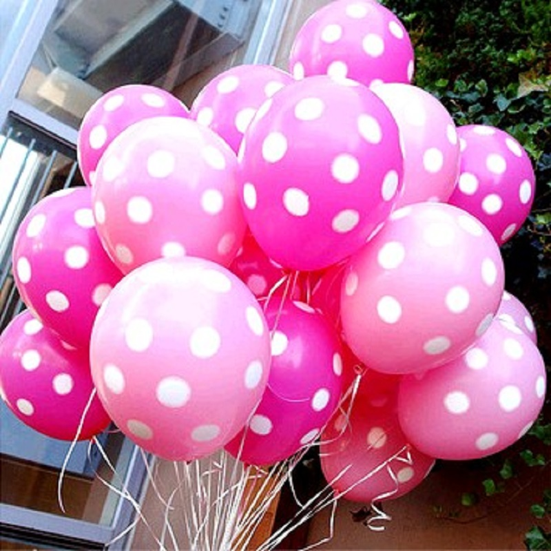 20pcs/Lot Latex Balloons 12 Inch Polka Dot Wedding Decoration Supplies Minnie Mouse Part ...
