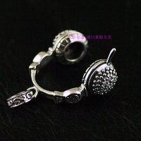 Импортированная из Таиланда 925 стерлингового серебра циркон ретро стерео гарнитура, подвеска для ушей люкс пакет