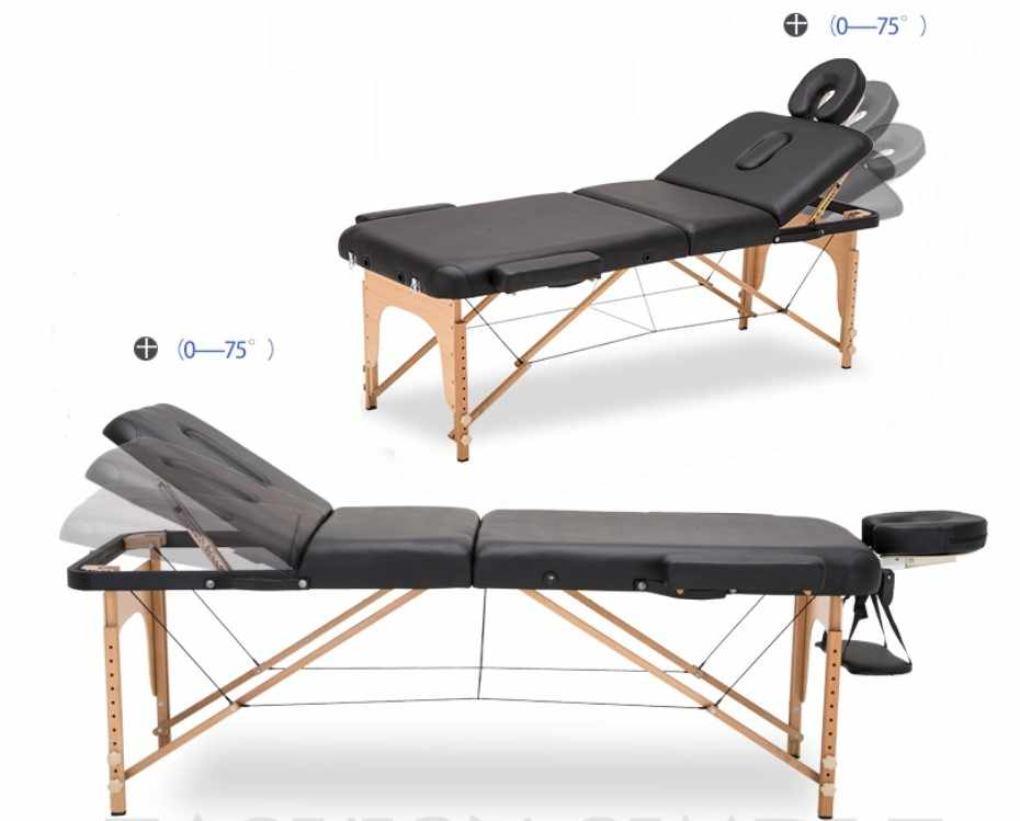 185*70CM adjustable leather massage table spa tattoo beauty furniture portable foldable salon patio Chinese medicine massage bed