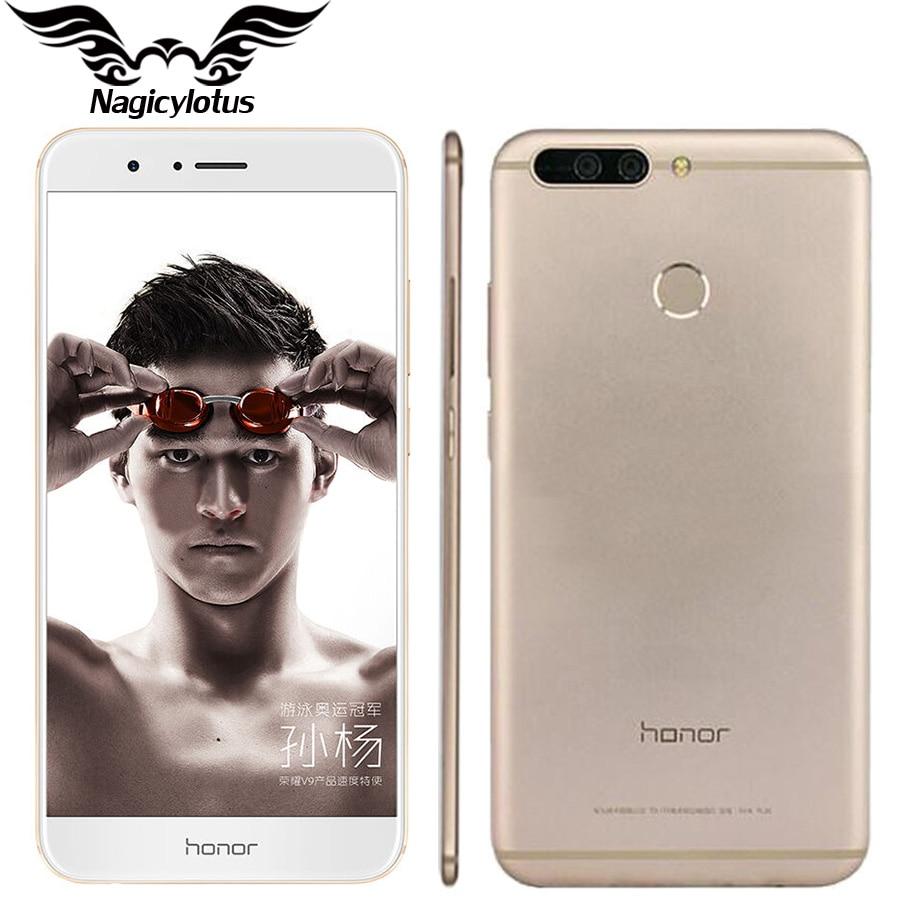 Original Huawei Honor V9 4G LTE Mobile Phone 5 7 2560x1440 6GB RAM 128GB ROM
