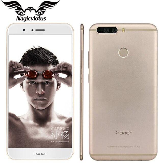 """Оригинал huawei honor v9 4 г lte мобильный телефон 5.7 """"2560x1440 6 ГБ RAM 128 ГБ ROM Kirin960 Octa-Core Dual 12.0MP Камера Смартфон"""