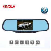 Newest 5.0″Touch Dual Cam Car DVRS with 1GB RAM 8GB ROM WiFi FM GPS Navigation Bluetooth Car Kits Car Mirror Android Cameras