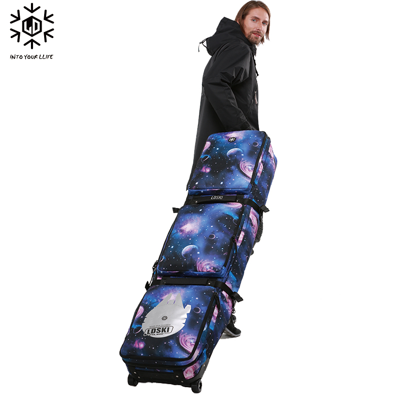 Image 4 - Snowboard Ski Roller Bag With Wheels 158cm 168cm 178 Large Capacity Waterproof Wearable Skying Bags Ski Equipment Bolso Patines-in Skiing Bags from Sports & Entertainment