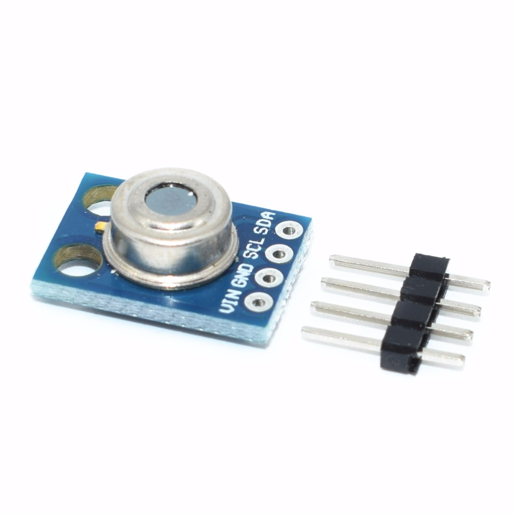 10pcs lot GY 906 MLX90614 MLX90614ESF non contact Infrared Temperature Sensor Module IIC Interface IR Sensor