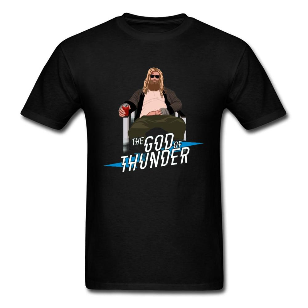 Avengers Endgame Marvel T Shirt Superhero The God Of Thunder Thor Obese Funny Hero Tshirts Infinite Ultimate War Print Comic