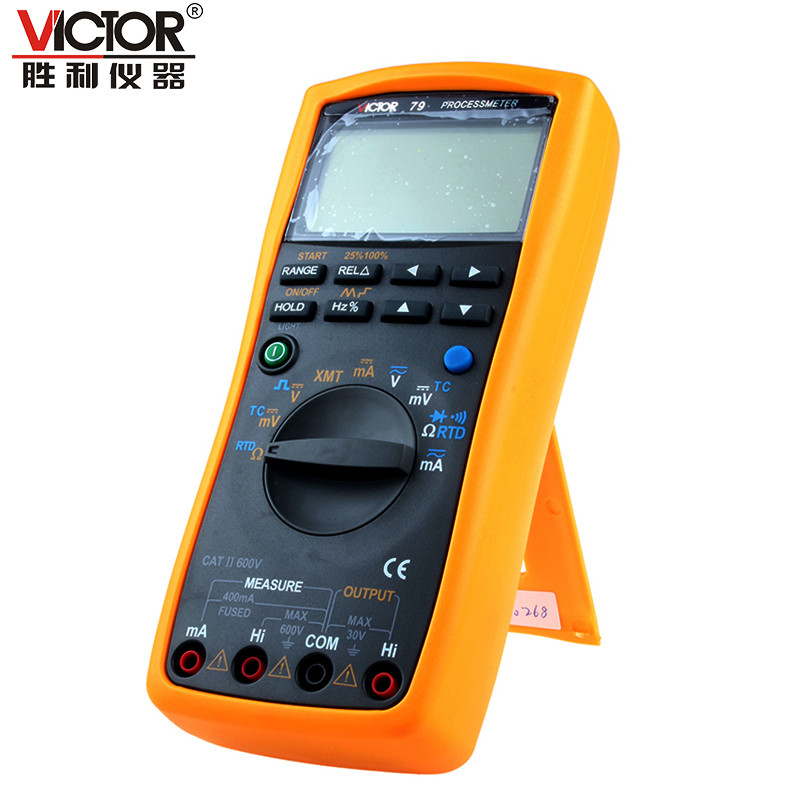VICTOR VC79 Process Multimeter Handheld Autoranging Large LCD Electronic Instrument handheld large screen multimeter lcd display accurate detection digital multimeter victor 88b