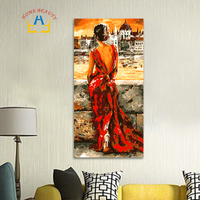 40 80cm Large Oil Painting By Numbers Coloring Drawing Wall Decor Picture Paint By Number Beauty