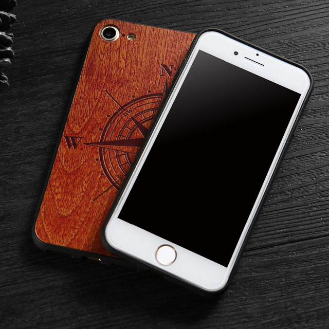 Natural Wood Compass Case for iPhone 4